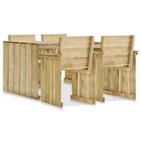 vidaXL 5dílná zahradní sedací souprava impregnovaná borovice