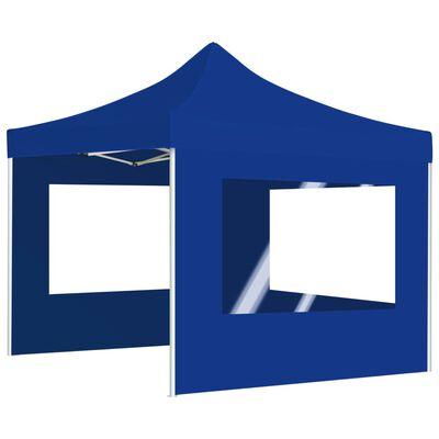 vidaXL Profesionální skládací party stan + stěny hliník 3 x 3 m modrý