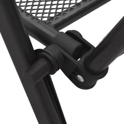 vidaXL Skládací židle se síťovinou 4 ks ocel antracitové