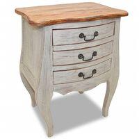 vidaXL Noční stolek masivní recyklované dřevo 48 x 35 x 64 cm