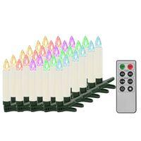 vidaXL Vánoční bezdrátové LED svíčky s dálkovým ovládáním 30 ks RGB