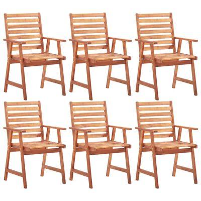 vidaXL Zahradní jídelní židle 6 ks masivní akáciové dřevo