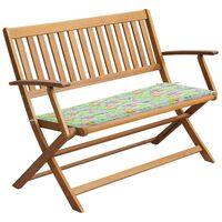 vidaXL Zahradní lavice s poduškou 120 cm z masivního akáciového dřeva