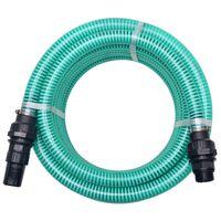 vidaXL Sací hadice s konektory 7 m 22 mm zelená