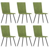 vidaXL Jídelní židle 6 ks zelené samet