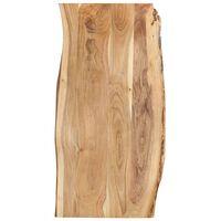 vidaXL Stolní deska masivní akáciové dřevo 120 x (50–60) x 2,5 cm