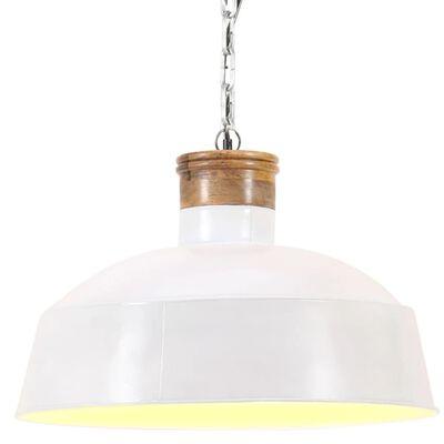 vidaXL Industriální závěsné svítidlo 32 cm bílé E27