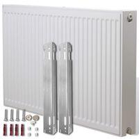 Dvoudeskový radiátor s bočním připojením - 120 x 10 x 60 cm - bílý