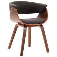 vidaXL Jídelní židle šedá ohýbané dřevo a textil