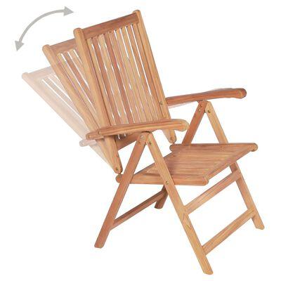vidaXL Polohovatelné zahradní židle 4 ks masivní teak