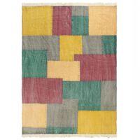vidaXL Ručně tkaný koberec Kilim bavlna 160 x 230 cm potisk barevný