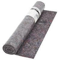 vidaXL Protiskluzové folie, malířský fleece, 50 m 180 g/m², šedá
