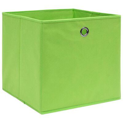 vidaXL Úložné boxy 10 ks zelené 32 x 32 x 32 cm textil