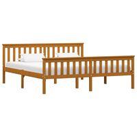 vidaXL Rám postele medově hnědý masivní borovice 180 x 200 cm
