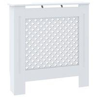 vidaXL Kryt na radiátor MDF bílý 78 cm