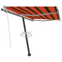 vidaXL Volně stojící ručně zatahovací markýza 350x250 cm oranžovohnědá