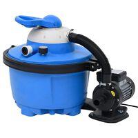 vidaXL Písková filtrace modro-černá 385 x 620 x 432 mm 200 W 25 l