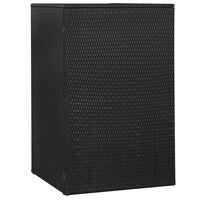vidaXL Přístřešek na popelnici černý 76 x 78 x 120 cm polyratan