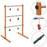 vidaXL Hra Golf Spin Ladder dřevěná