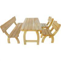 vidaXL 4dílný zahradní nábytek jídelní set impregnovaná borovice