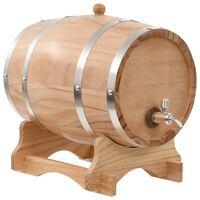 vidaXL Soudek na víno s pípou masivní borovice 12 l