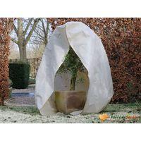 Nature Zimní fleecový kryt se zipem 70 g/m² béžový 2 x 1,5 x 1,5 m