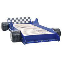 vidaXL Dětská postel ve tvaru závodního auta 90 x 200 cm modrá