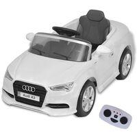 vidaXL Elektrické dětské auto s dálkovým ovládáním Audi A3 bílé