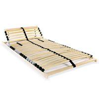 vidaXL Lamelový rošt postele s 28 lamelami 7 zón 80 x 200 cm