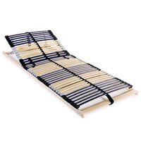 vidaXL Lamelový rošt postele se 42 lamelami 7 zón 90 x 200 cm