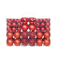 vidaXL Sada vánočních baněk 100 kusů 6 cm červená