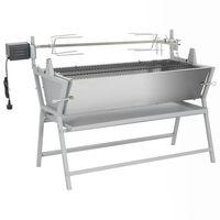 vidaXL Rotisserie železo a nerezová ocel grilovací jehla