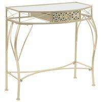 vidaXL Odkládací stolek ve francouzském stylu kovový 82x39x76 cm zlatý