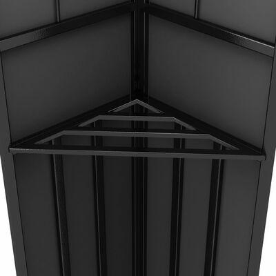vidaXL Altán s dvojitou střechou 3 x 3 m antracitový