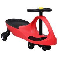 vidaXL Dětské vozítko a odrážedlo SwingCar s klaksonem červené