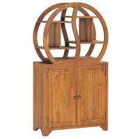 vidaXL Skříňka s policí Yin Yang 70x30x130 cm masivní teakové dřevo