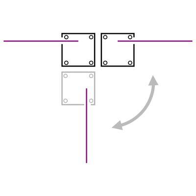 vidaXL Zatahovací boční markýza / zástěna krémová 170 x 1000 cm