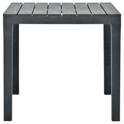vidaXL Zahradní stůl se 2 lavicemi plast antracitový