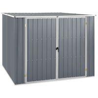 46254 vidaXL Garden Shed Grey 195x198x159 cm Galvanised Steel