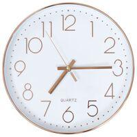 vidaXL Nástěnné hodiny 30 cm růžově zlaté