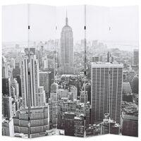 vidaXL Skládací paraván 200 x 170 cm New York by Day černobílý