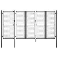 vidaXL Zahradní brána ocel 150 x 395 cm antracitová
