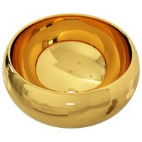 vidaXL Umyvadlo zlaté 40 x 15 cm keramika