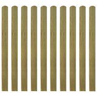 vidaXL 20 ks impregnované plotovky dřevo 120 cm