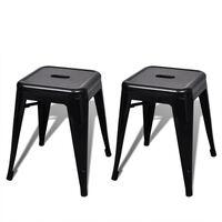 vidaXL Stohovatelné stoličky 2 ks černé kov