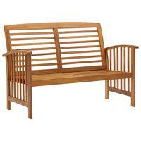 vidaXL Zahradní lavice 119 cm masivní akáciové dřevo