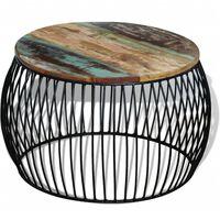 vidaXL Konferenční stolek kulatý masivní recyklované dřevo 68 x 43 cm