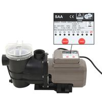 vidaXL Bazénové čerpadlo s časovačem černé 0,25 HP 8 000 l/h
