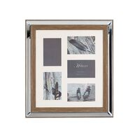 Rámeček na 5 fotografií zrcadlový efekt barva tmavého dřeva SINTA