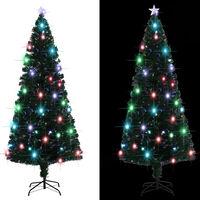 vidaXL Umělý vánoční stromek se stojanem a LED 210 cm 280 větviček